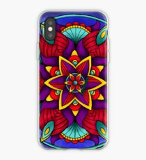 Colorful Flower Mandala iPhone Case