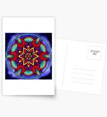 Colorful Flower Mandala Postcards