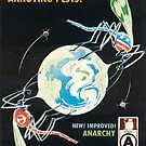 Fast Acting Relief From Annoying Pests! 1980s Anarchist poster by dru1138