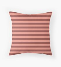 Brown And Pink Stripes Floor Pillow