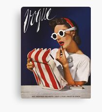 Vogue, Very Old Vintage, Fashion Retro/Vintage Canvas Print