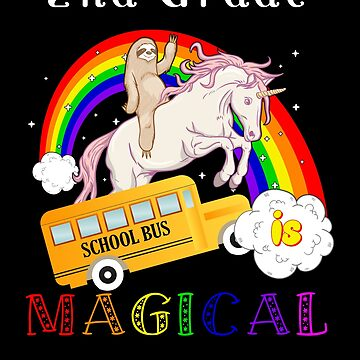 2nd grade is magical unicorn bus by DBA-Dezines
