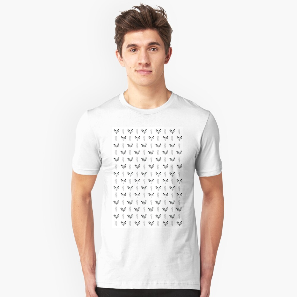 Panda Wallpaper Unisex T-Shirt Front