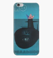 """Myth and reality"" Anti-American Soviet Propaganda Poster, USSR, 1983 iPhone Case"