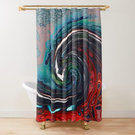Wave 9 Shower Curtain