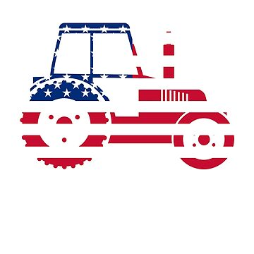 U.S.A Flag Tractor by Mill8ion