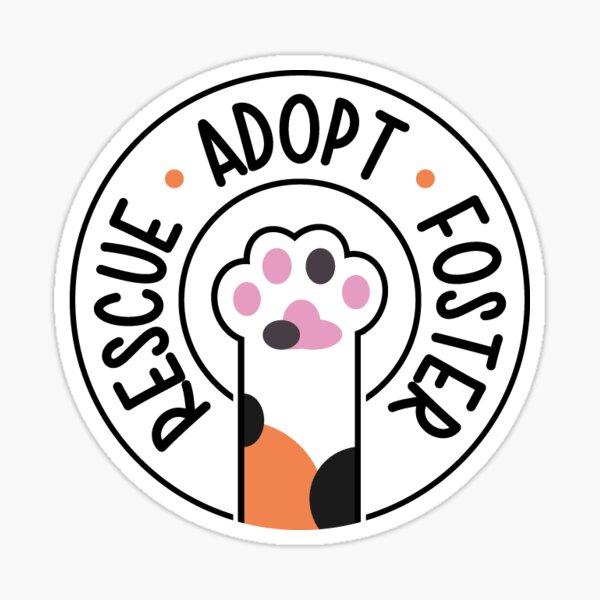 Rescue, Adopt, Foster - Calico Sticker