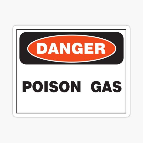 Danger Poison Gas Sticker