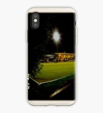 clarence grafton bowling club last drinks with white border iPhone Case