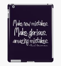 Make Mistakes iPad Case/Skin
