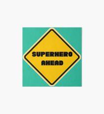 Superhero Ahead Art Board