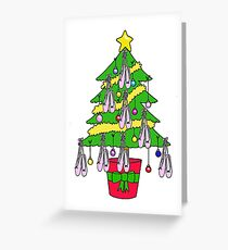 Christmas Ballet Shoe Tree. Greeting Card