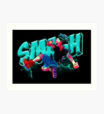 Lámina artística Smash Deku - My Hero Academia