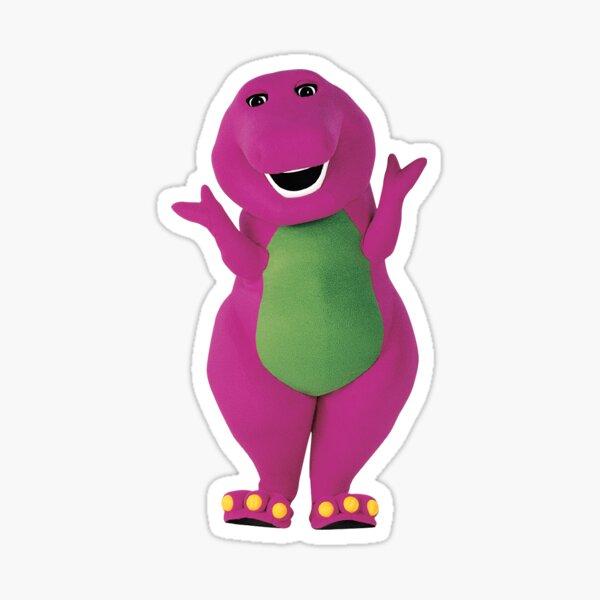barney the dinosaur say WHAT? Sticker