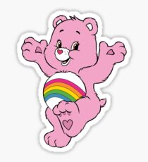 pink care bear Sticker