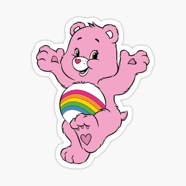 pink care bear Sticker