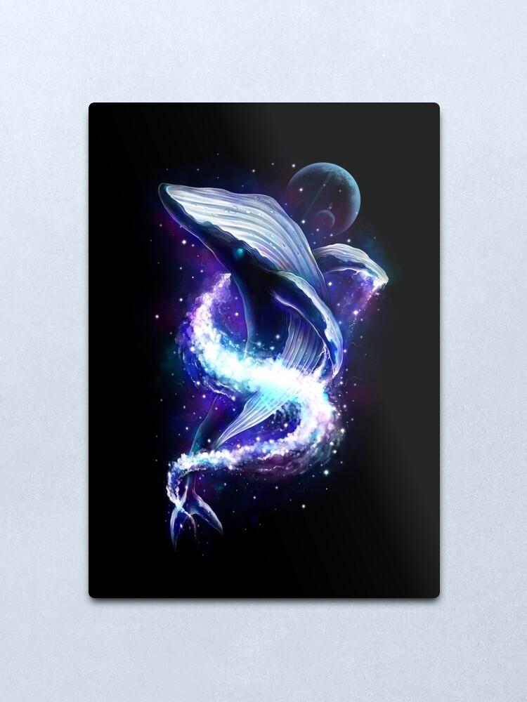 Alternate view of Celestial Whale Metal Print