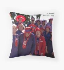 Group Christmas Card Throw Pillow
