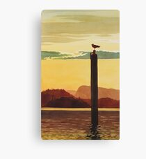 """""""Orcas Island Sunset"""" Watercolor Canvas Print"""