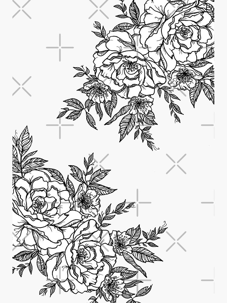 Flowers - Black & White by CasValli