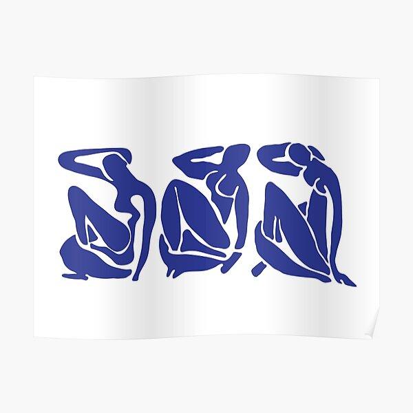 Blue Matisse Nudes Poster