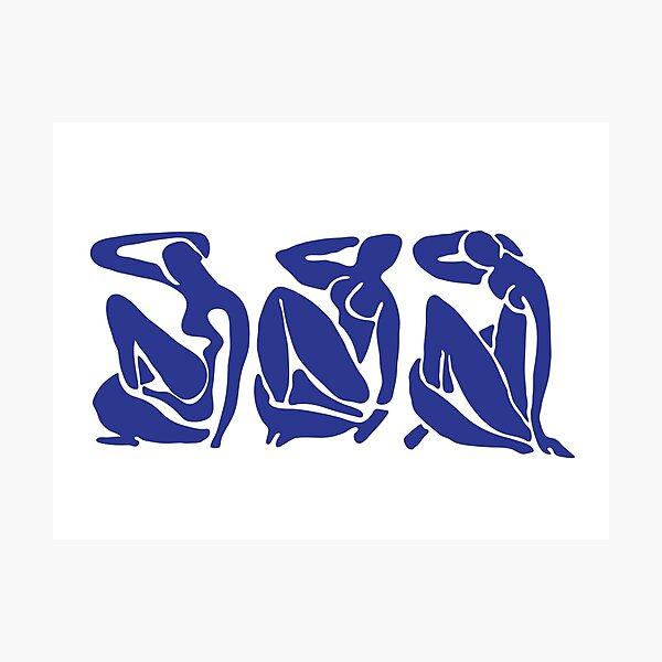 Blue Matisse Nudes Photographic Print