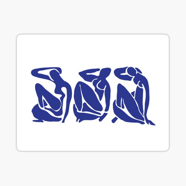 Blue Matisse Nudes Sticker