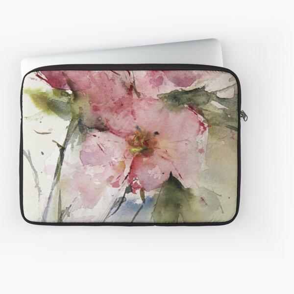 watercolor flowers from Arcen Laptop Sleeve