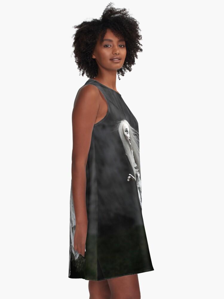 Alternative Ansicht von Geisterstunde A-Linien Kleid