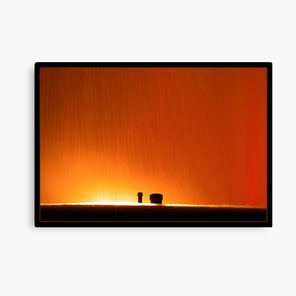 Mulholland Fountain at Night Canvas Print