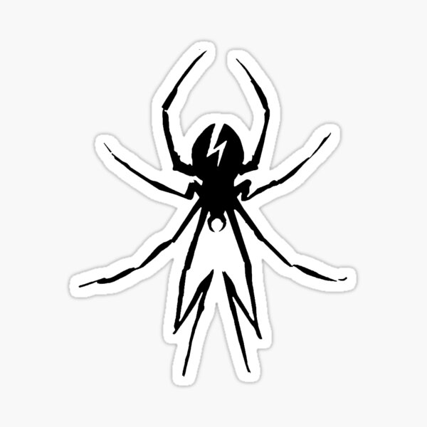 Black Killjoy Spider  Sticker