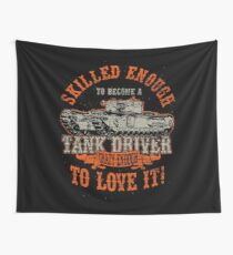 Tank driving day and night Wall Tapestry