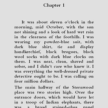 The Big Sleep Raymond Chandler Page One by buythebook86