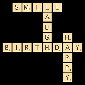 Happy Birthday Letters Board Game Tshirt Gift by Netsrikfa