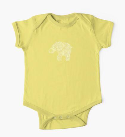 Little Leafy White Elephant Kids Clothes