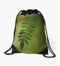 dreamy green Drawstring Bag