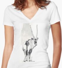 Typical of the Gemsbok Women's Fitted V-Neck T-Shirt