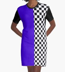 Colour blocking with mod check Graphic T-Shirt Dress