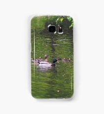 mallad, duck, family, waterfowl, duckling,  Samsung Galaxy Case/Skin