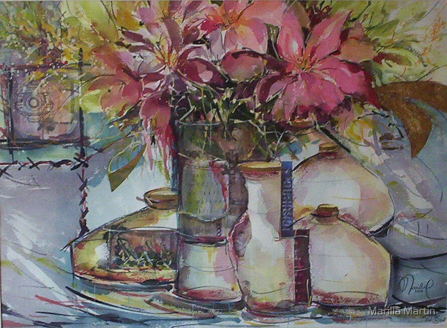 Crazy flowers by Marilia Martin