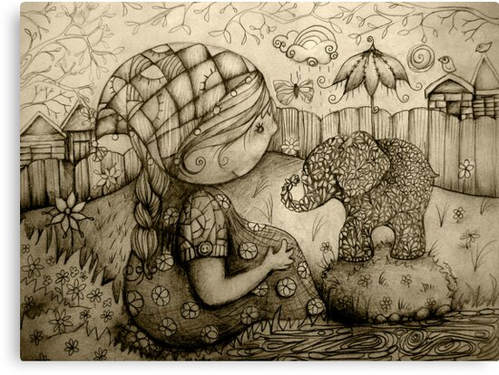 There's an Elephant in My Garden by © Karin Taylor