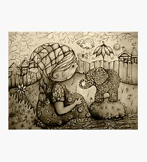 There's an Elephant in My Garden Photographic Print