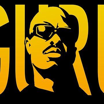 guru gang starr gold by omgitsdex
