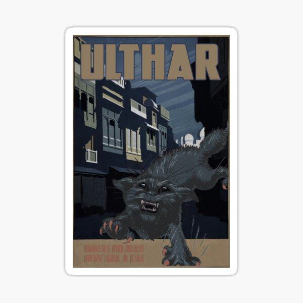 "H.P. Lovecraft Travel Poster: Ulthar (""The Cats of Ulthar"") Sticker"