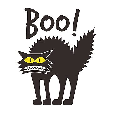 Boo Funny Halloween Cat by goodspy