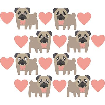 Pugs And Hearts Great Fashion T-Shirt With Dogs by andalit