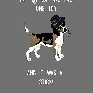 Funny Old Dog Granddad - In My Day Print by leeseylee