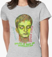 Zombie Curtis Womens Fitted T-Shirt