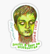 Zombie Curtis Sticker