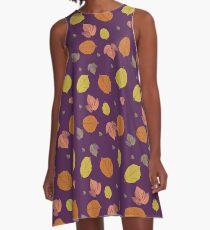 Autumn Leaves in purple A-Line Dress